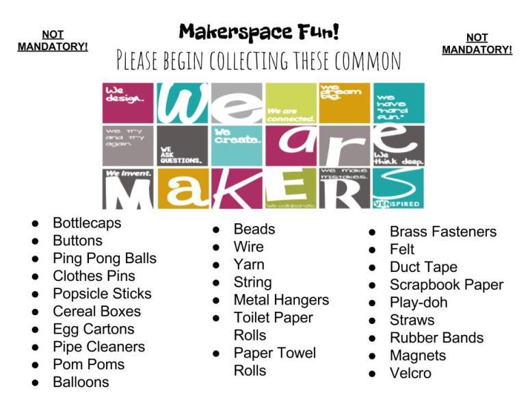 Makerspace Fun List